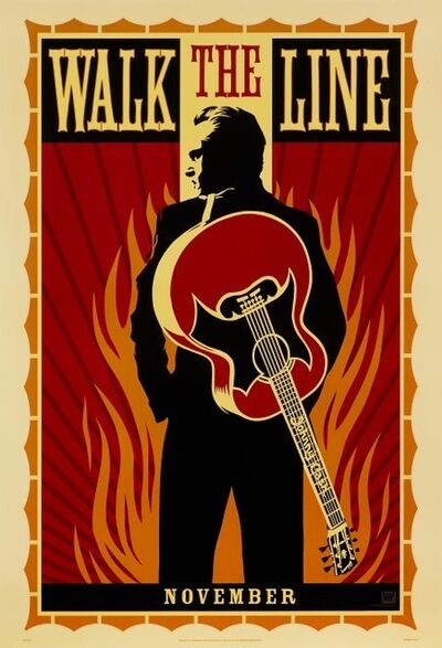 Shepard Fairey, 'Walk the line Poster', 2005