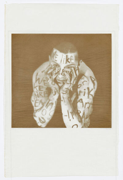 Lesley Dill, 'Gold Word Figure', 1998