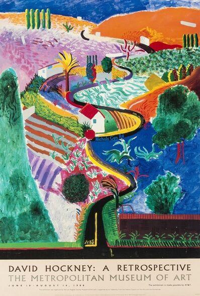 After David Hockney, 'A poster for David Hockney: A Retrospective', 1988