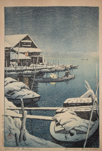 Kawase Hasui, 'Snow at Mukojima', 1931
