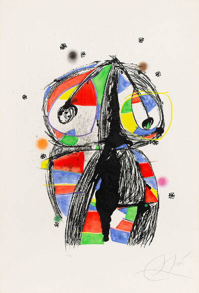 Joan Miró, ' Colombine with Black Ideas', 1980
