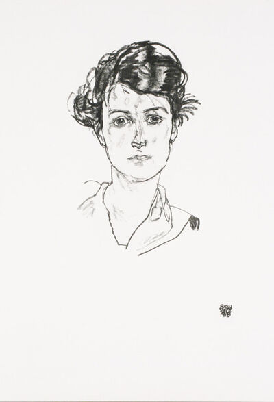 Egon Schiele, 'Portrait of a Young Woman [Handzeichnungen]', 1920