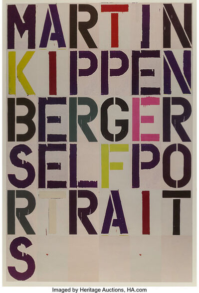 Christopher Wool, 'Martin Kippenberger: Self Portrait, exhibition poster', 2005
