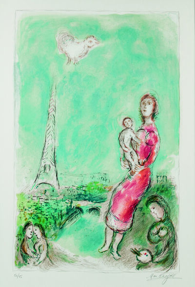 Marc Chagall, 'Maternité rouge', 1980
