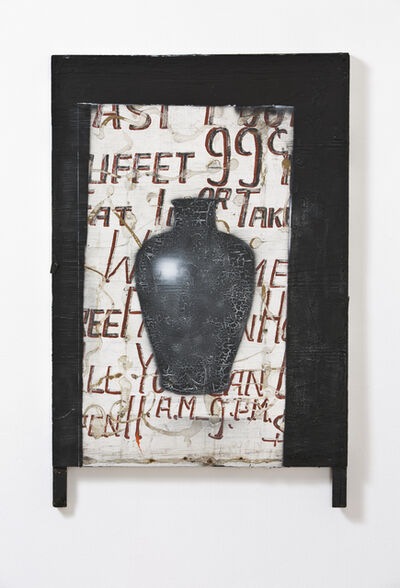 Raymond Saunders, 'Untitled (black urn)', 2014-2015