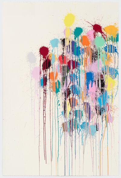 Ian Davenport, 'Colour Splat Edge (white)', 2017