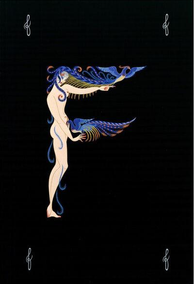 Erté (Romain de Tirtoff), ' Letter F Alphabet', 1976