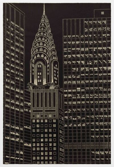 Yvonne Jacquette, 'Chrysler Building Flanked by High Rise Buildings, II', 2009