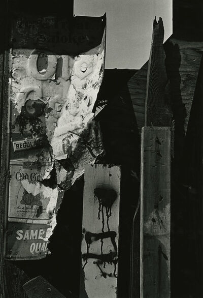 Louis Draper, 'Abstract Metal Sign, New York', 1965