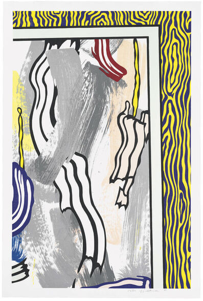 Roy Lichtenstein, 'Painting on Blue and Yellow Wall', 1984