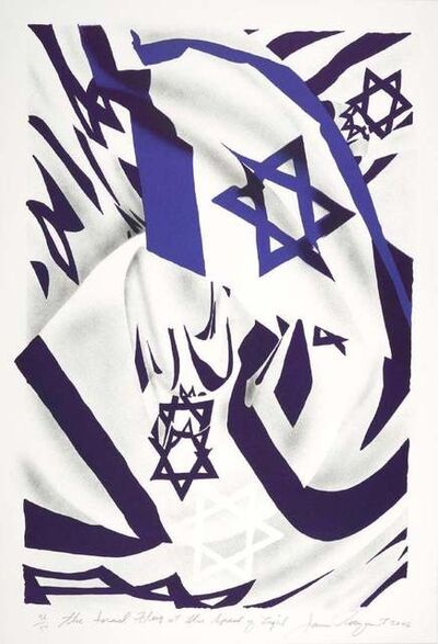 James Rosenquist, 'The Isreal Flag at the Speed of Light', 2006