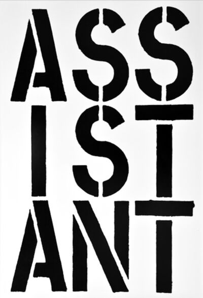 Christopher Wool, 'Assistant - page from the Black Book', 1989