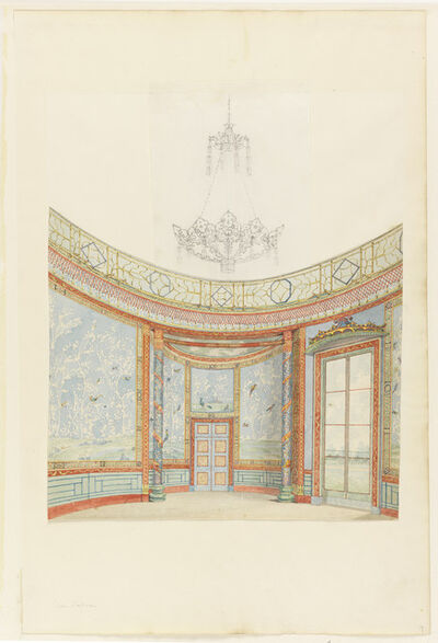 Frederick Crace, 'Design for the Decoration of the Saloon, Royal Pavillion, Brighton', ca. 1815