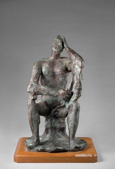 Arturo Martini, 'Uomo seduto pensatore', 1943