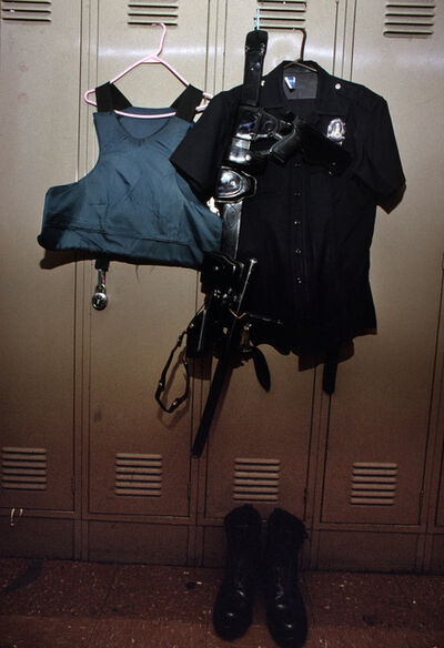 Joseph Rodriguez, 'An officer ́s uniform hangs in the Rampart Division locker room, LAPD 1994', 1994