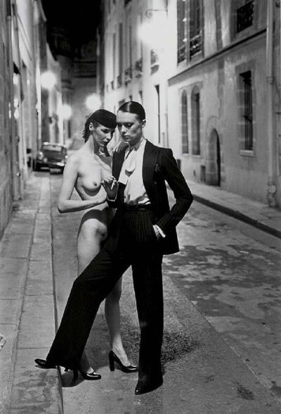 Helmut Newton, 'Rue Aubriot with Nude, Parisian Street 1975', 1975
