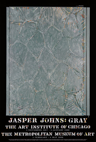 Jasper Johns, 'Gray (Within) exhibition posters: four copies', 2008