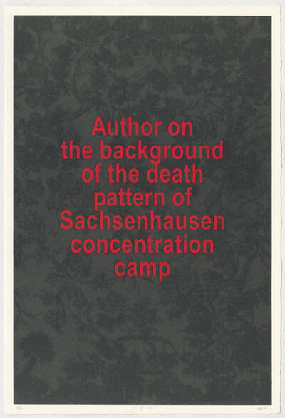 Vadim Zakharov, 'The author on the background of the death pattern in the Sachsenhausen concentration camp (3 sheets)', 2019