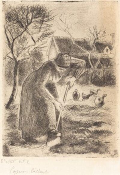 Camille Pissarro, 'Paysanne bêchant (Peasant Laboring)', 1890