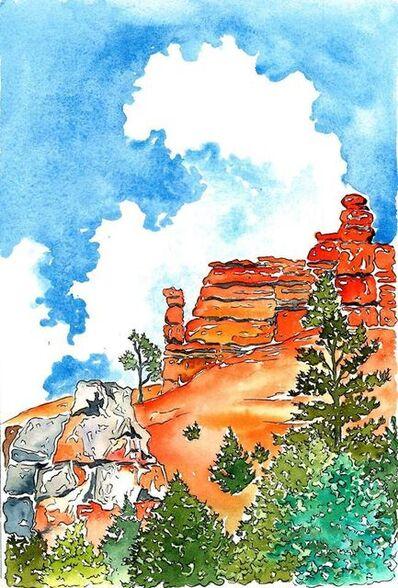 Scott Winterrowd, 'Orange Hoodoos, Green Trees, Brice Canyon, NP', 2018