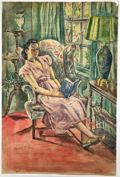 Beatrice Levy, 'Woman Reading', circa 1940