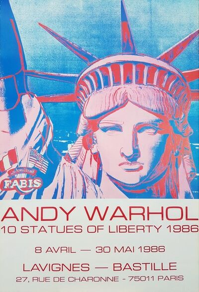 Andy Warhol, 'Galerie Lavignes Bastille (10 Statues of Liberty)', 1986