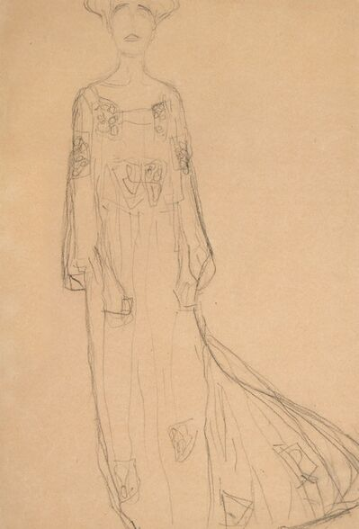 Gustav Klimt, 'Study for the Portrait of Adele Bloch-Bauer', 1903