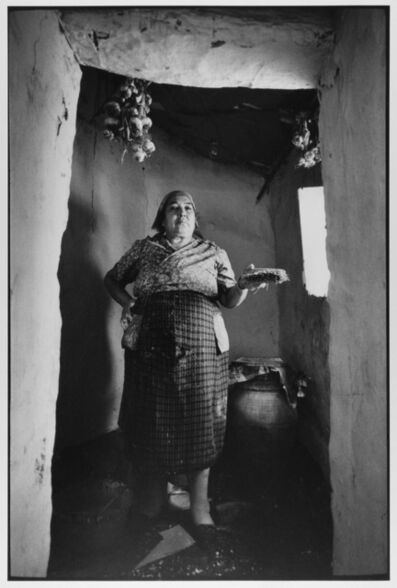 Leonard Freed, 'Village Woman painting her home white, Madonie Mountains, Sicily, Italy ', 1974