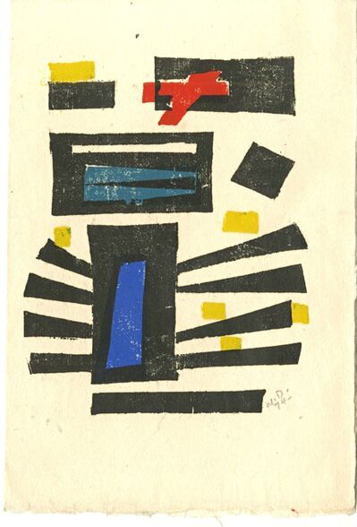 Werner Drewes, 'Untitled Mid Century Modern Abstract Woodcut ', 1974