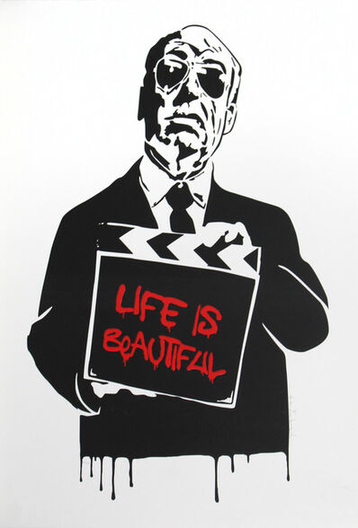 Mr. Brainwash, 'Alfred Hitchcock (Life is Beautiful)', 2008