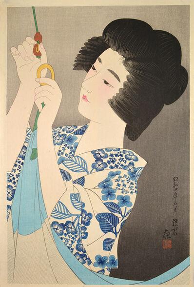 Itō Shinsui, 'Hanging a Mosquito Net', 1929