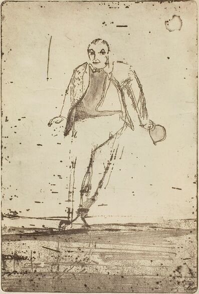 Michael Andrews, 'Standing Man Holding a Bowler hat', 1951