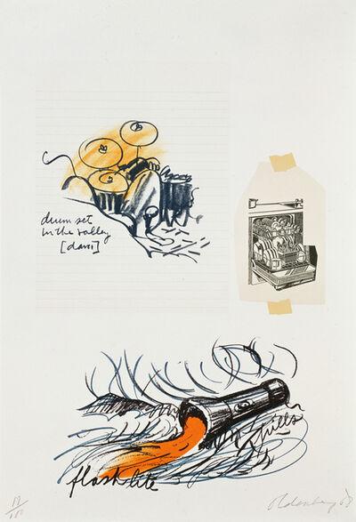 Claes Oldenburg, 'Notes, Untitled (Drum Set)', 1968
