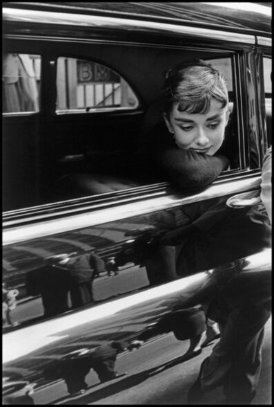 "Dennis Stock, 'Audrey Hepburn during the filming of ""Sabrina"". New York', 1954"