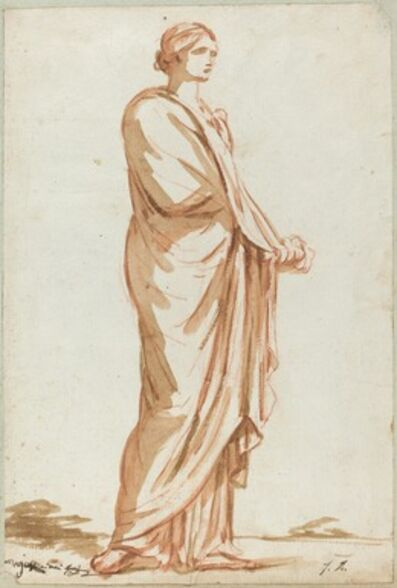 Jacques-Louis David, 'Roman Statue of a Standing Woman'