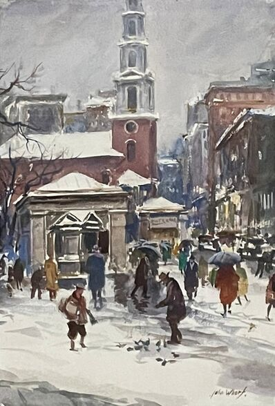 John Whorf, 'Park Street Church, Boston', ca. 1930