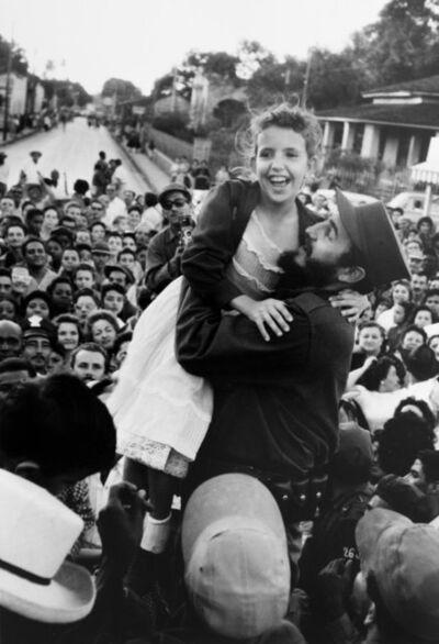 Burt Glinn, 'On another stop Castro lifts a young admirer, Cuba', 1959