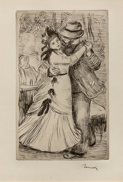 Pierre-Auguste Renoir, 'La Danse a la Campagne, 2E Planche'