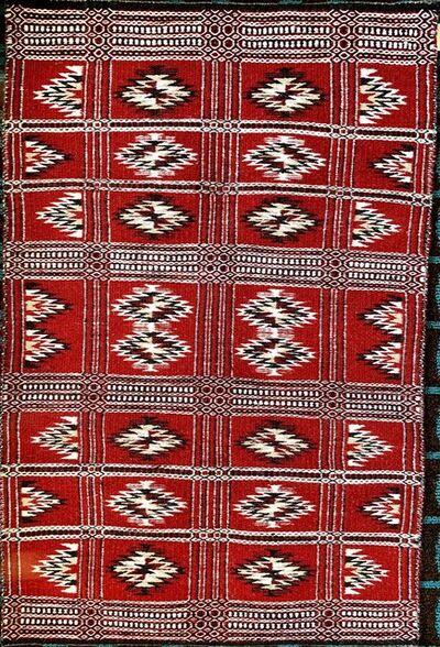 Navajo artist, 'Navajo rug - double weave', 2019