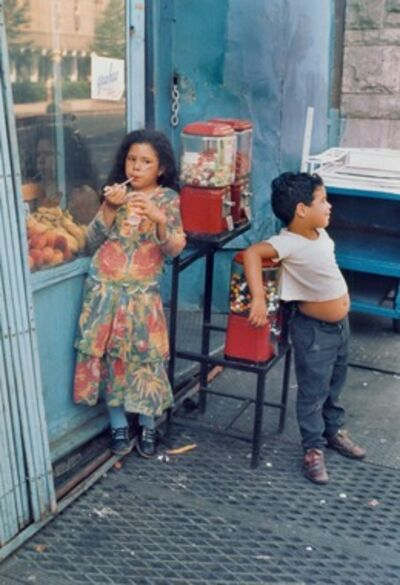 Helen Levitt, 'Untitled, (Children with Gumball Machine)', 1971