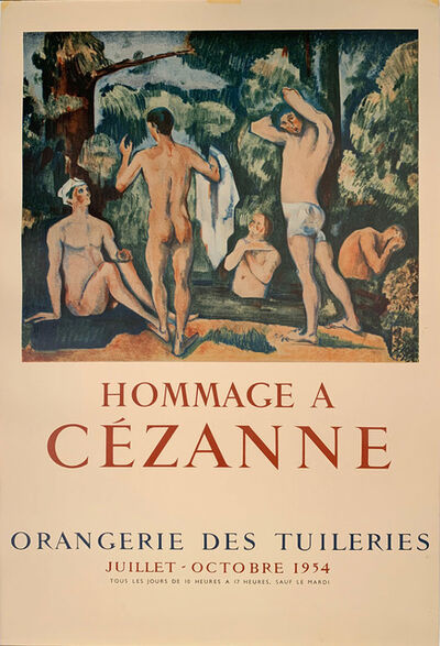 Paul Cézanne, 'Hommage A Cezanne, Orangerie des Tuileries, HOLIDAY SALE $500 OFF THRU MAKE OFFER', 1954
