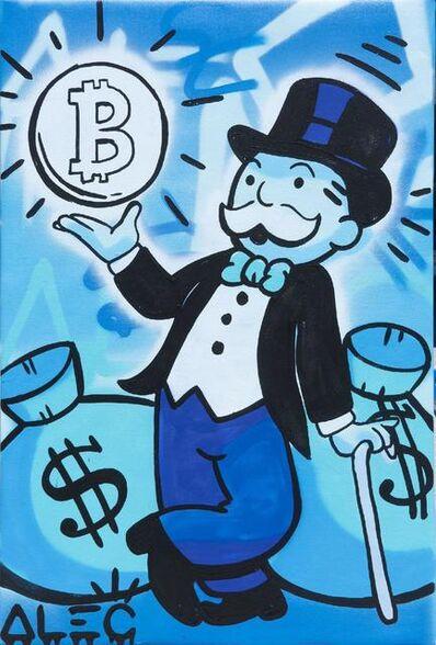 Alec Monopoly, 'Blue Monopoly Bitcoin $ Bags', 2021