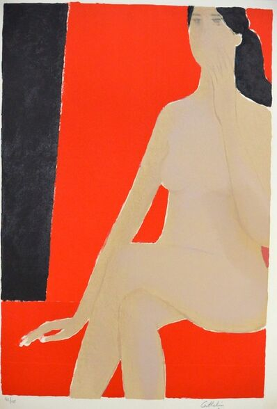 Bernard Cathelin, 'Nu au fauteuil rouge', 1978