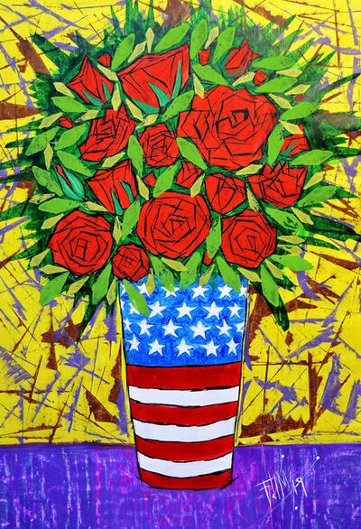Franck de las Mercedes, 'Patriotic Arrangement', 2019