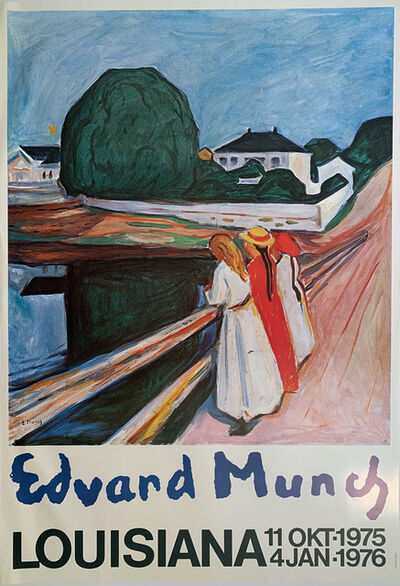 Edvard Munch, 'Edvard Munch, Louisiana, 11 Okt-1975 to 4 Jan1976, HOLIDAY SALE $250 OFF THRU MAKE OFFER', 1976