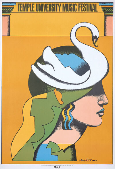 Milton Glaser, 'Milton Glaser Temple University Music Festival poster 1975 (Milton Glaser posters)', 1975