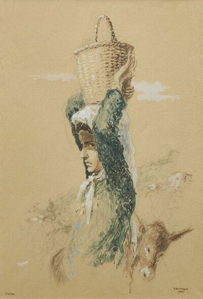 William Weintraub, 'Girl with basket on her head, Israel', 1958
