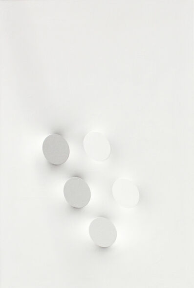 Turi Simeti, '5 ovali bianchi', 1993