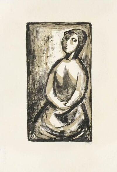 Fernando Rivero, 'Mujer en sepia', 1964