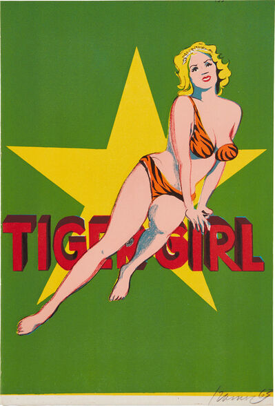 Mel Ramos, 'Tiger Girl from One Cent Life', 1963